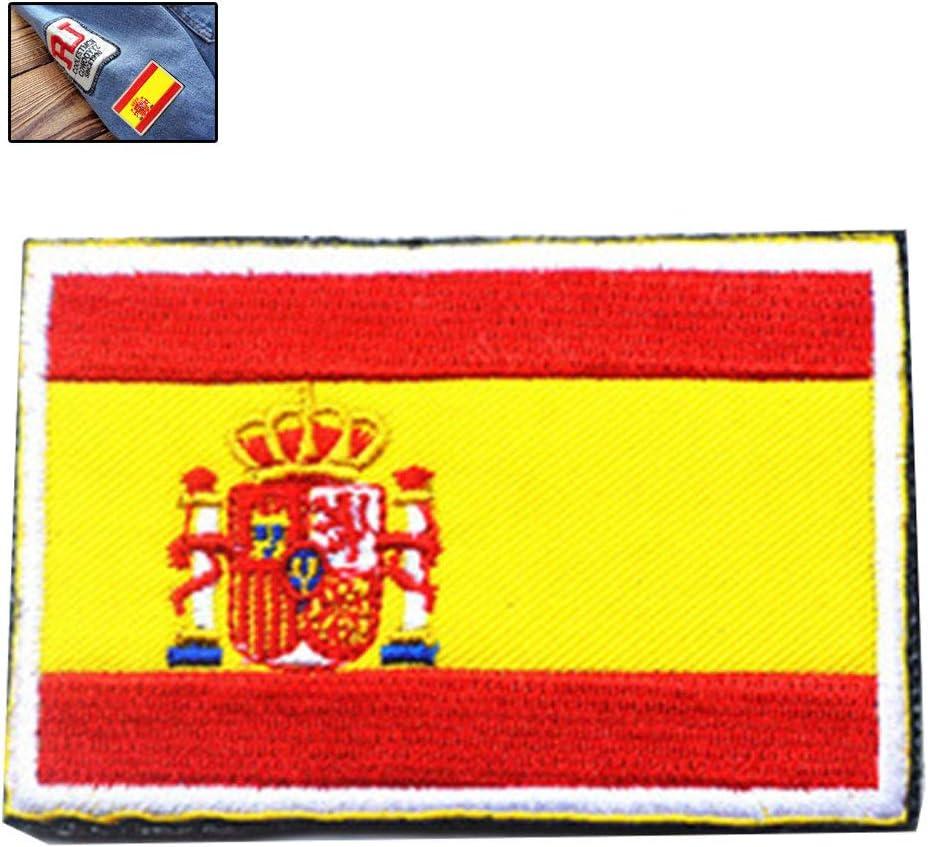 Zonfer Tácticas Bordado 3D De La Bandera De España del Brazal Militares Fuerzas Moral Especial Insignia Ropa De Camuflaje Al Aire Libre Mochila Patch Deportes: Amazon.es: Hogar