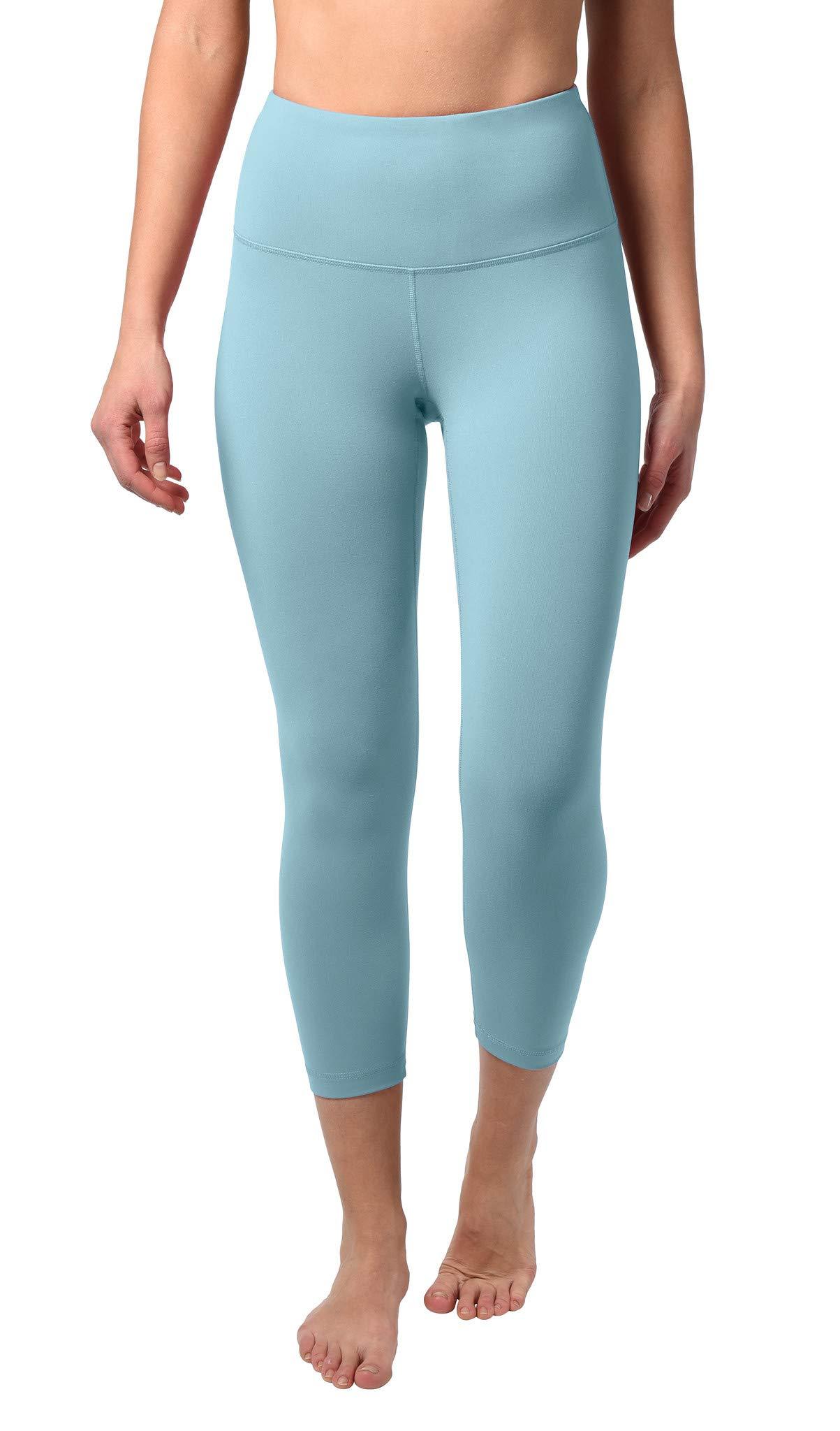 90 Degree By Reflex - High Waist Tummy Control Shapewear - Power Flex Capri - Bluebell - Small by 90 Degree By Reflex