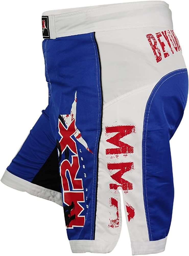 MMA Shorts Grappling UFC Cage Fight Netting Short Boxing Muay Thai Kick RED//BLK