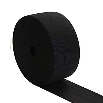 """2/"""" inch 50mm Wide Flat Elastic in White//Black for Dressmaking//Sewing//DIY Crafts"""
