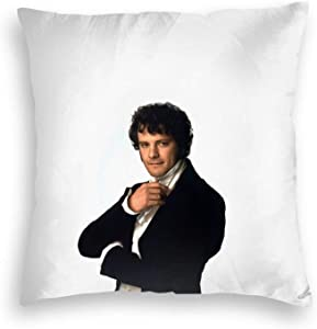 RIUARA Colin Firt-H As Mr Darcy in Pride & Prejudice Throw Pillow Cover Cozy Square Throw Pillow Case Home Decoration for Bed Couch Sofa Living Room Cushion Covers 18