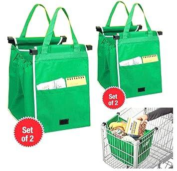 Portátil Shopping funda, 2 unidades) Bolsa de la compra para la Locura, brilli antjo Moneda para el carro de la compra bolsa reutilizable Vida ...