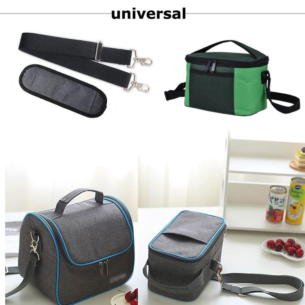JAKAGO 150cm Universal Replacement Shoulder Straps Adjustable Bag Straps with Metal Swivel Hooks and Non-Slip Pad for Duffel Bag Laptop Briefcase Violin Bag Camera Travel Bag (Grey) by JAKAGO (Image #7)