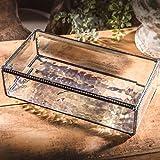 "J Devlin Box 830 Large Beveled Clear Glass Keepsake Jewelry Box 8"" x 4"" x 2"""