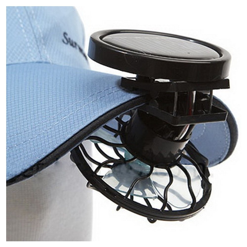 Mini Portable Clip-On Solar Panel Powered Cooling Fan for Travel Camping Fishing by FOMMY (Image #1)