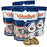 ValueBull Braided Bully Rings, 4.5-5.5 Inch Thin, All Natural, 100 Count