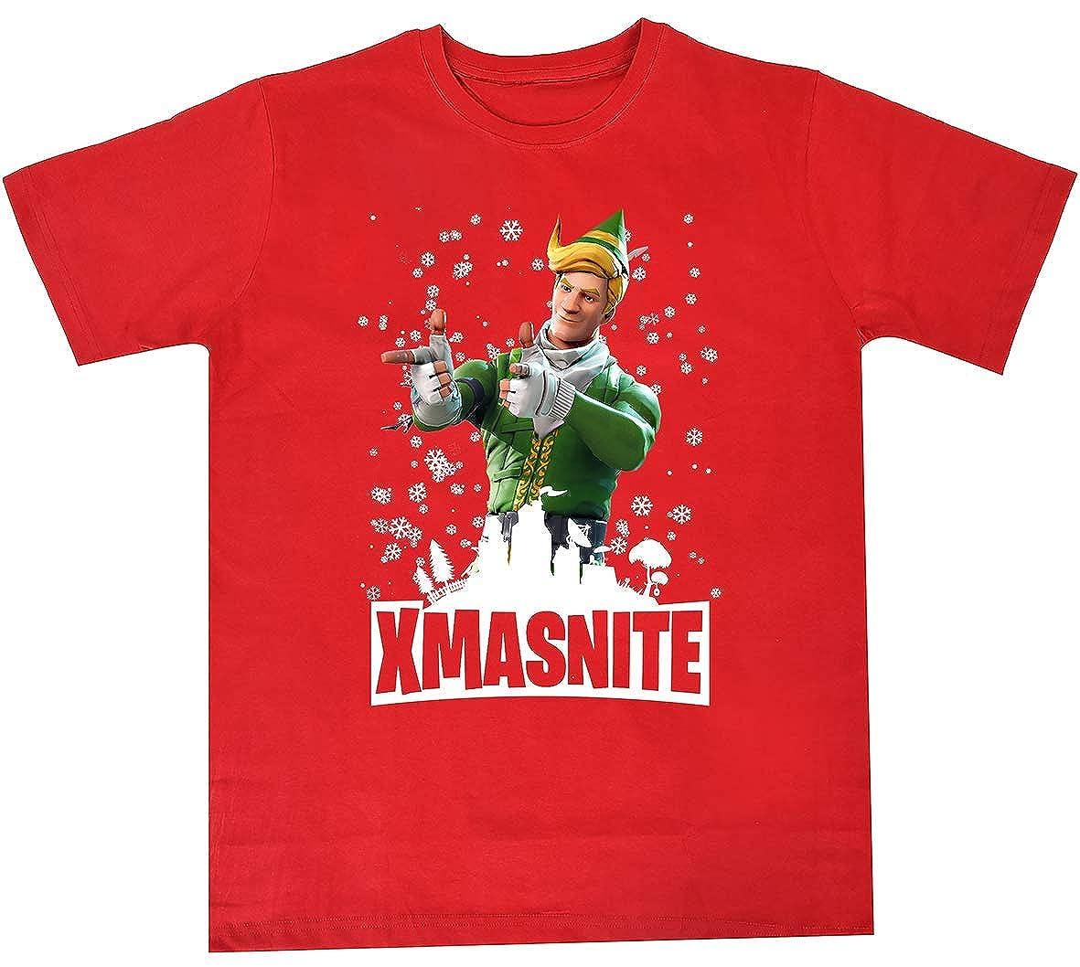 Fortnight T Shirt Kids, Fort, Youth Boys, Merchandise, Apparel, Sweatshirt, Ninja Shyper, Battle Royale, Christmas, Xmas, Nite Xmasnite04