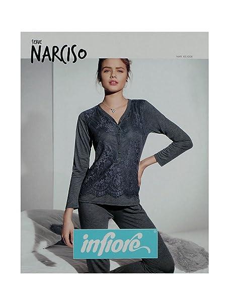 ordina online primo sguardo in vendita all'ingrosso Infiore NARCISO 1006 PIGIAMA MANICA LUNGA DONNA (48, ANTRACITE ...