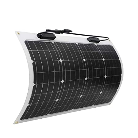 side facing renogy 50 watt 12 volt flexible monocrystalline solar panel