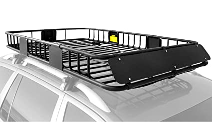 0c562fcc90f1 XCAR Roof Rack Carrier Basket Rooftop Cargo Carrier with Extension Black  Car Top Luggage Holder 64