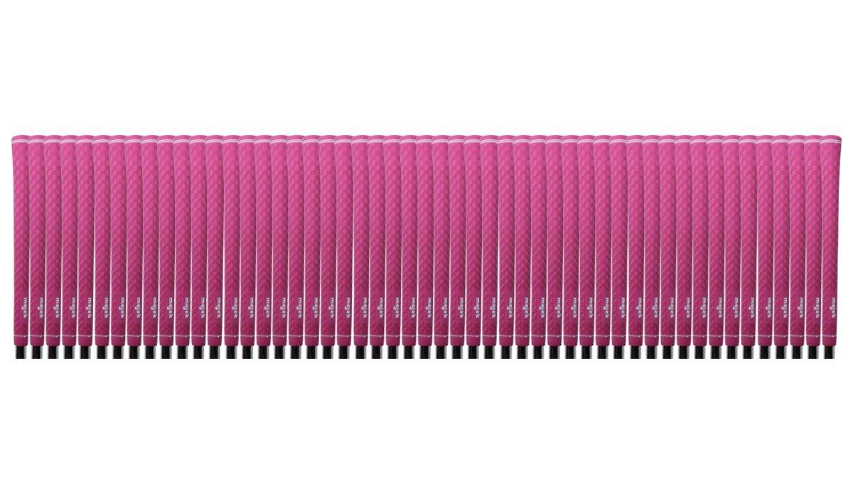 100 pcs - Majek Ladies Tour Pro Dark Pink Undersize Golf Grips