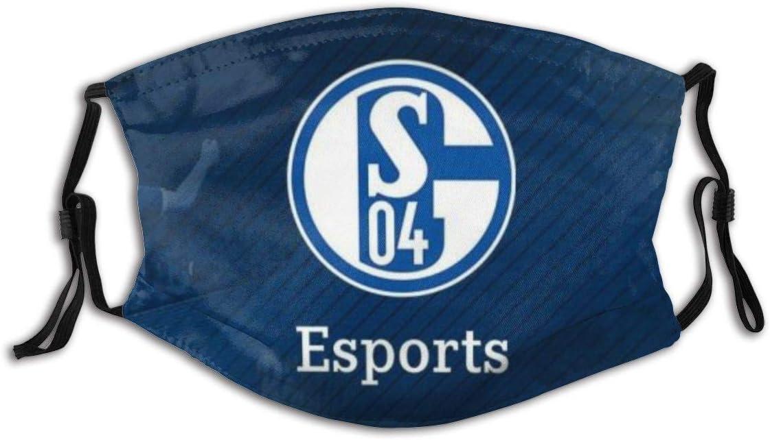 GABRI Mundschutz Gesichtsschutz Schalke 04 Fu/ßballmannschaft Logo 3 Antistaub Waschbar und Wiederverwendbar Bandana mit Filtern
