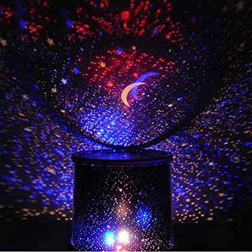 HuaYang Chic Design Star Sky LED Night Light Projector Lamp Decoration Best Gift(Random Color)
