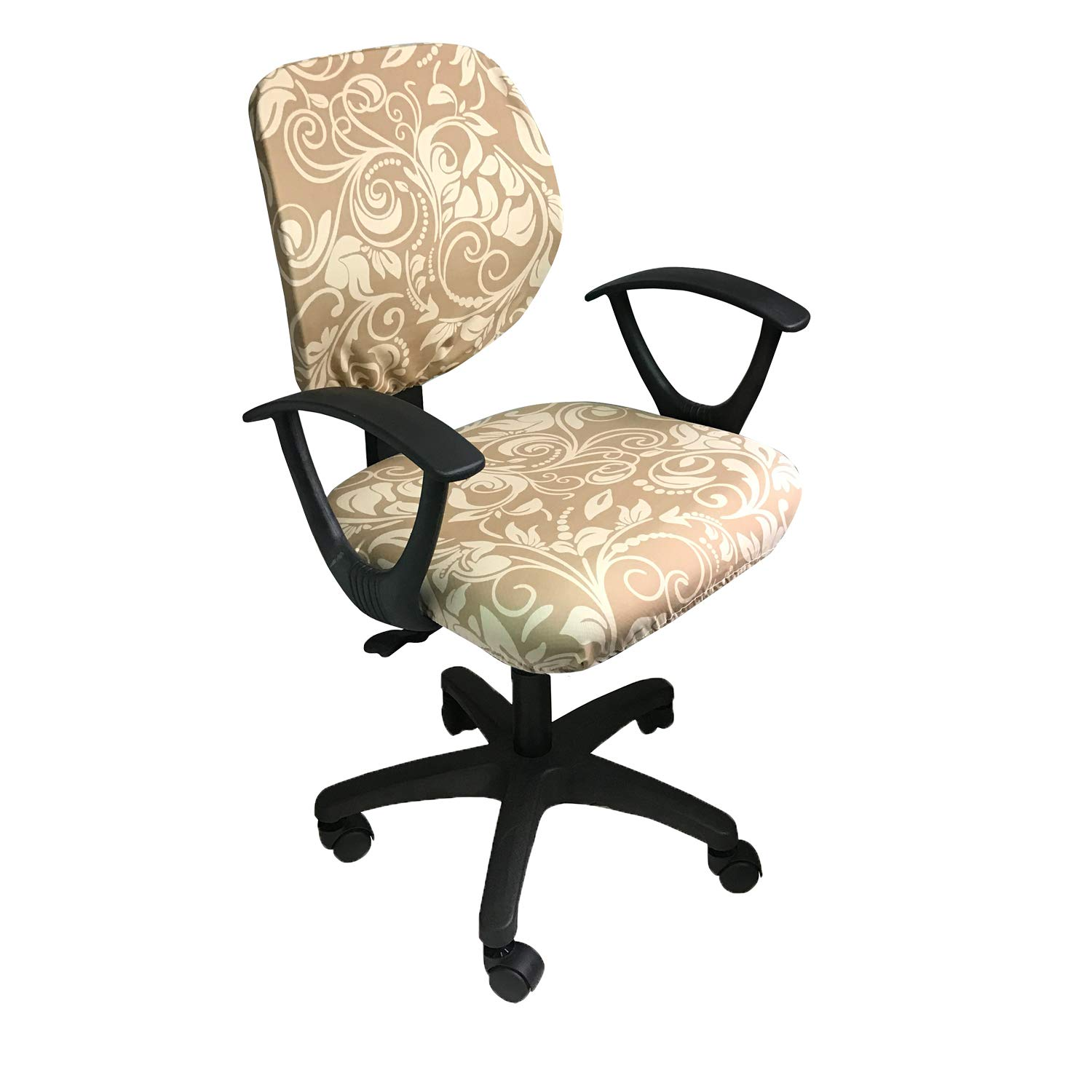 MOCAA Computer Office Chair Covers Universal Stretchable Polyester Washable Rotating Chair Slipcovers,ONLY Chair Covers (Color 1)