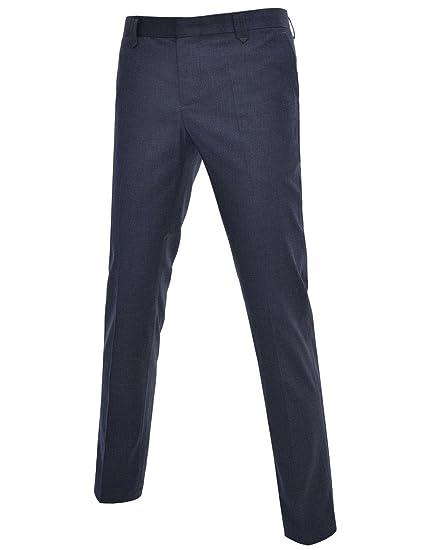 DETYLISH Mens Suit Trousers Slim Fit Dress Pants Casual Business Slacks at  Amazon Men s Clothing store  612218f9711a