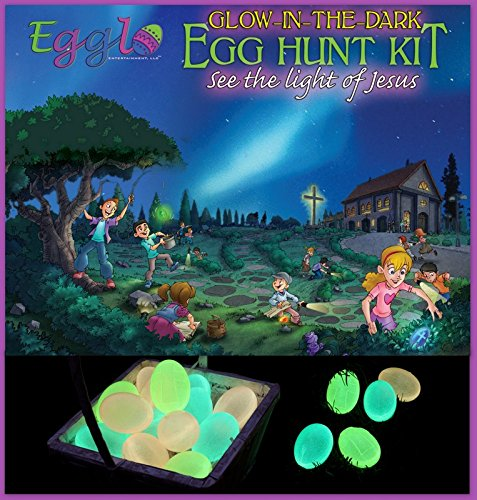 Egglo Glow in the Dark Easter Egg Kit (Christian) - Create Amazing Memories with Your Kids - Bonus Egg Hunt Guide Included
