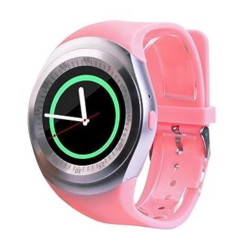Logobeing Deporte Smartwatch 2018 Bluetooth Reloj Inteligente Teléfono Camarada Completa Redondean La Pantalla Sim para Android para iOS (C): Amazon.es: ...