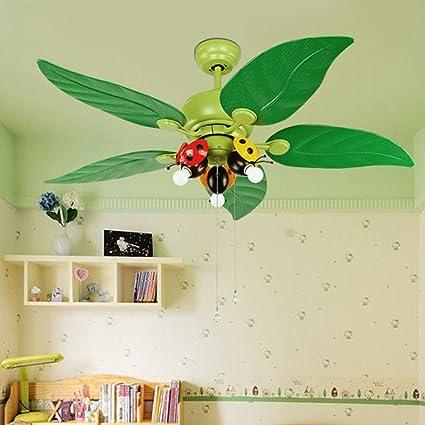 Huston Fan 42 Inch Childrenu0027s Room Ceiling Fan Light Cartoon Fan With LED  Living Room
