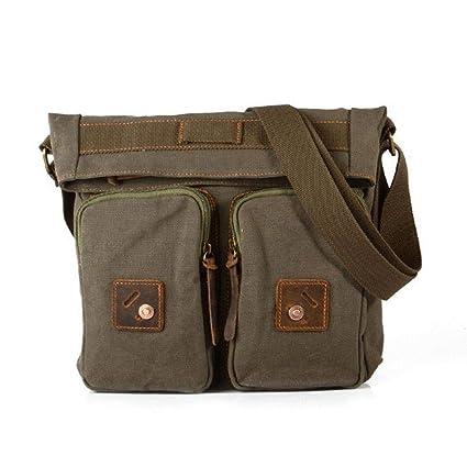 80ec28aba0b3 AOLVO ECO Messenger Laptop Bag-Classic Messenger Bag Crossbody for Men  -Canvas Messenger Bag
