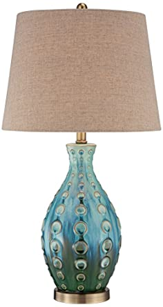 Mid century ceramic vase teal table lamp amazon mid century ceramic vase teal table lamp mozeypictures Image collections
