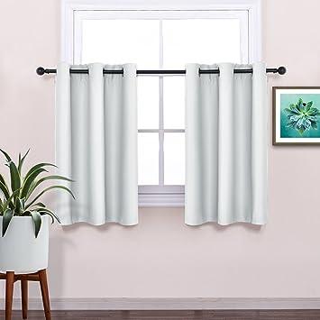 Greyish White Blackout Window Tiers