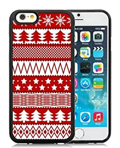 Custom iPhone 6 Case,Christmas Seamless Texture Black iPhone 6 4.7 Inch TPU Case 1