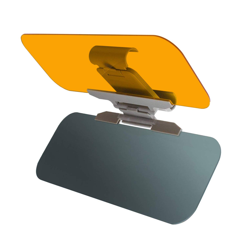 Car Sun Visor, 2 in 1 Anti-glare Visor Day and Night Car Visor Tinted Windshield Extender UniverCar Sun Visor, 2 in 1 Anti-glare Visor Day sal Automobile Sun Anti-UV Block Visor for Cars, SUVs, Trucks