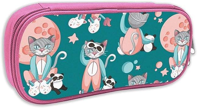 Estuche de lápices Infantil,Gatos, Pandas y Unicornios 1 Fondo Turquesa de pequeña Escala_5213, Rosa: Amazon.es: Juguetes y juegos