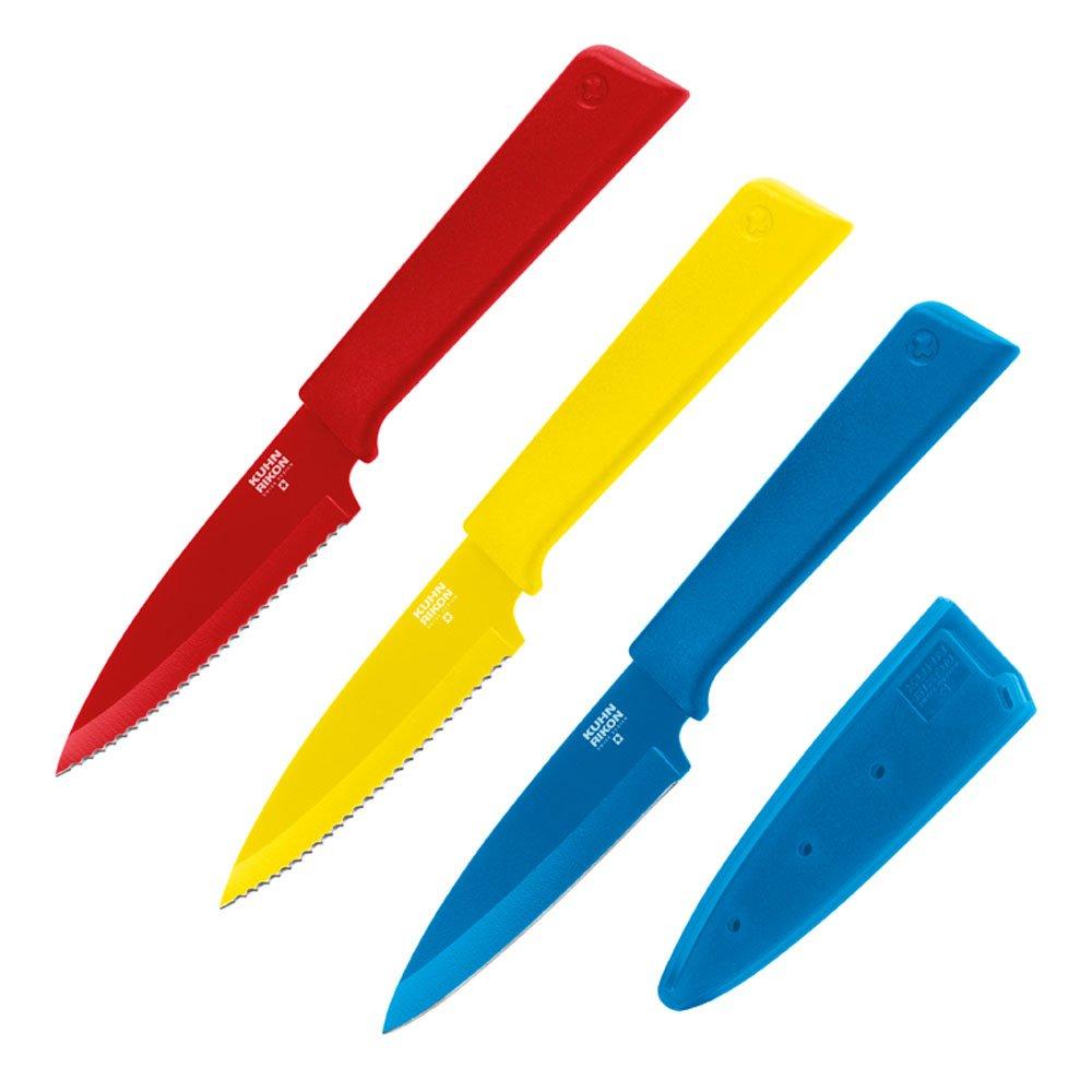 Kuhn Rikon''Colori+'' 3 Piece Prep Knives Set, Multicolor