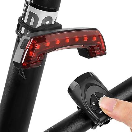 Luz de campana de bicicleta Luz trasera de bicicleta Alarma ...