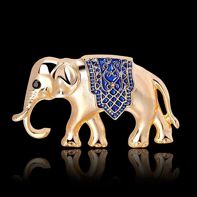Zoomy Broches De Elefante Joyas Mujeres Lujo Anima...