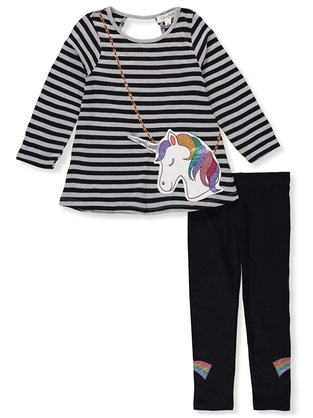 Jessica Simpson Girls' 2-Piece Leggings Set Outfit