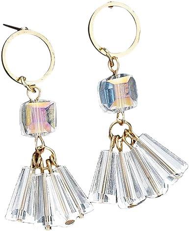 Femmes Accessoires Costume Cristal Tassel Collier Boucles D/'Oreilles Bracelet Bague Bijoux