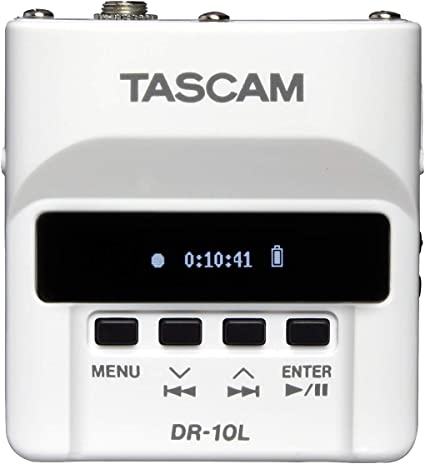 Tascam DR-10L Digital Audio Recorder with Lavalier Microphone White