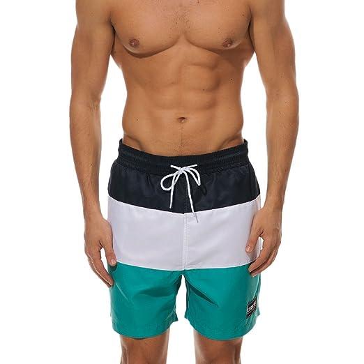 2c85098cd4ed7 Image Unavailable. Image not available for. Color: Kiasebu Men's Swim  Trunks Bathing Suit ...