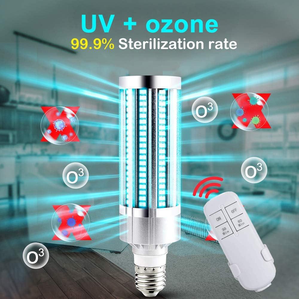60W UV Lampe(2 St/ück) Lifemaison 60W E27 UV Desinfektion Lampe UV-C Sterilisation Gl/ühbirne Ozonfreies Desinfektionslicht Keimt/ötende Lampe