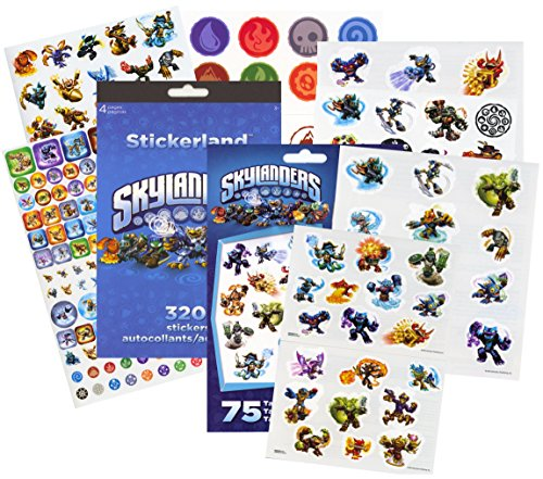 Skylanders Stickers & Tattoos Party Favor Pack (270 Stickers & 50 Temporary (Skylanders Stickers)