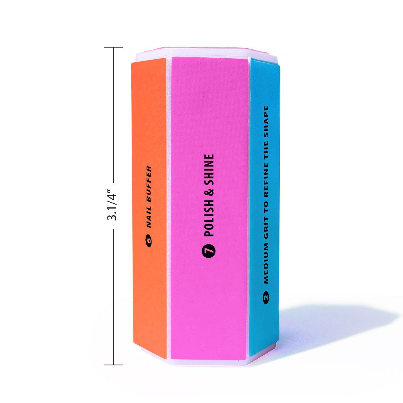 Amazon.com : Two 8-Way Salon Quality Nail Buffers Plus 1 Authentic ...