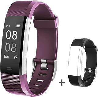 YAMAY Fitness Armband mit Pulsmesser Fitness Tracker Wasserdicht IP67 Smartwatch Aktivitätstracker Pulsuhr Schrittzähler Uhr Sportuhr für Damen Herren mit Ersatzriemen für iPhone Android Handy