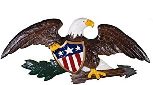 Montague Metal Products Deluxe Color Flagpole Wall Eagle, 23-Inch