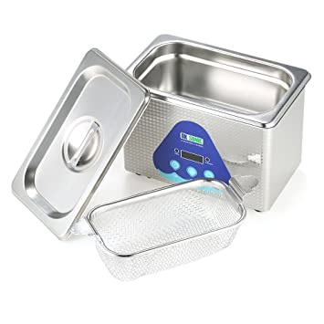 KKmoon 0.8L de Acero Inoxidable Hogar Hogar Limpiador Ultrasónico Digital Joyas Relojes Placa de Circuito de Limpieza Máquina de Esterilización AC220-240V: ...