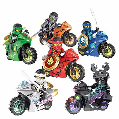 [6 Sets Phantom Ninja Ninjago Series Minifigures Toy Motorcycle Chariot Blocks DR] (Greek Cat Costume)