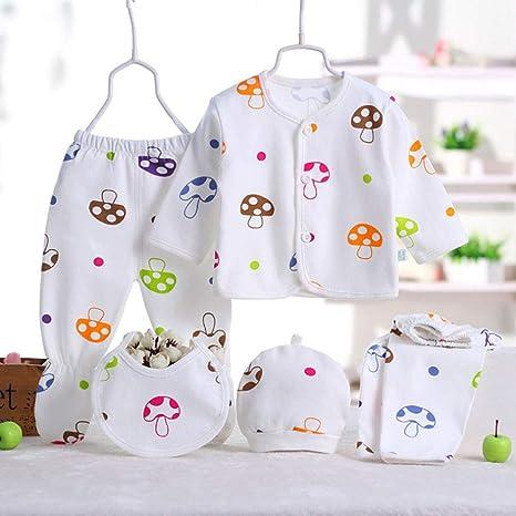 Juego de ropa para recién nacido de 0 – 3 m, de algodón, para