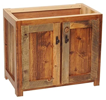 Rustic Wood Bathroom Vanity Base  36 in  W Rustic Wood Bathroom Vanity Base  36 in  W    Rustic Bathroom  . Rustic Vanities For Bathrooms. Home Design Ideas