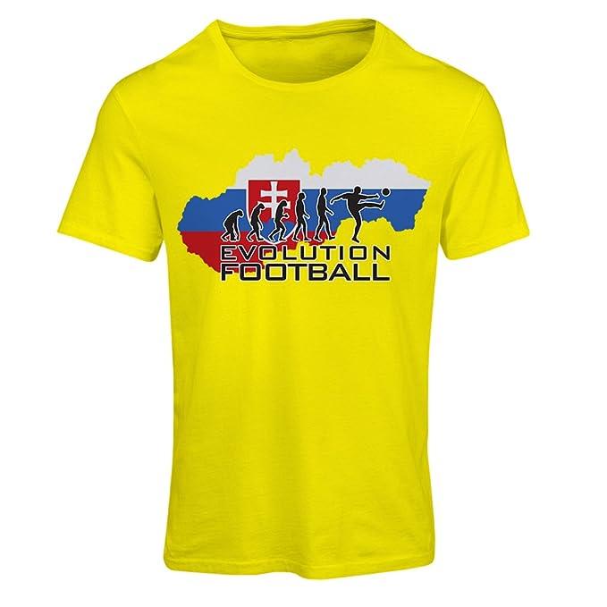 Camiseta Mujer evolución fútbol - El Equipo Nacional de fútbol de Eslovaquia (Small Amarillo