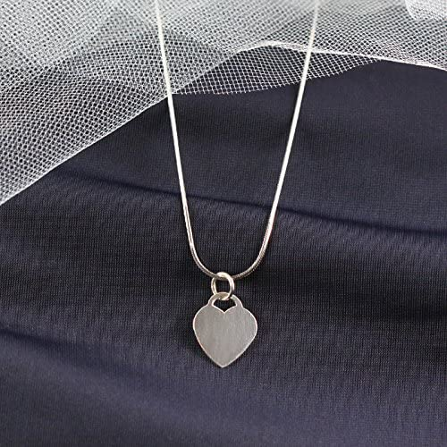 Personalised Silver Heart Necklace Engraved Initial Sterling Silver Gift For Her
