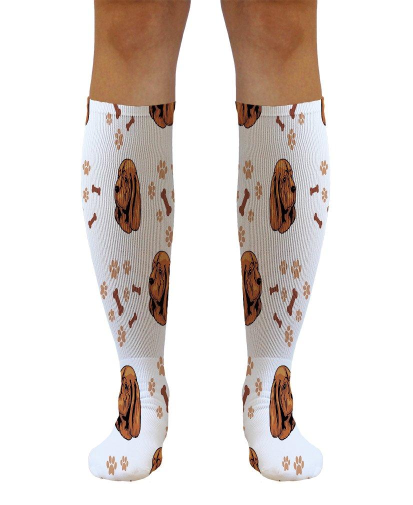 Funny Knee High Socks Sussex Spaniel Dog Breed Style B Tube Women & Men 1 Size 1
