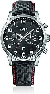 Hugo Boss Watch, Men's Chronograph Aeroliner Black CorduraStrap 44mm 1512919