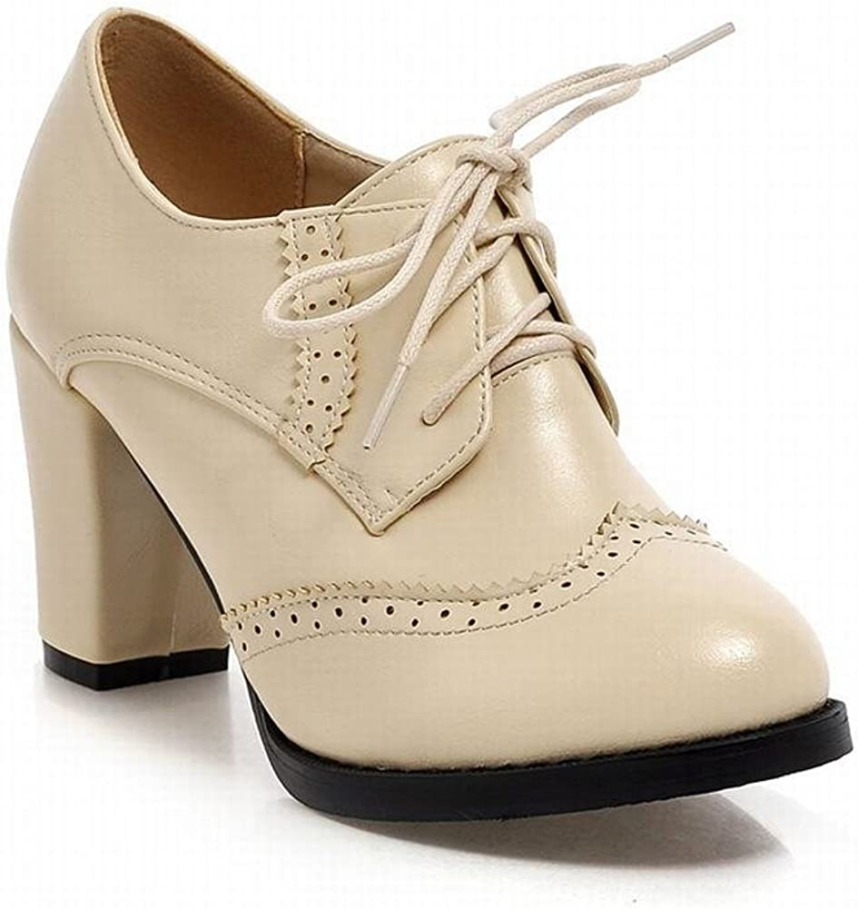 Show Shine Womens Lace Up Oxfords Shoes