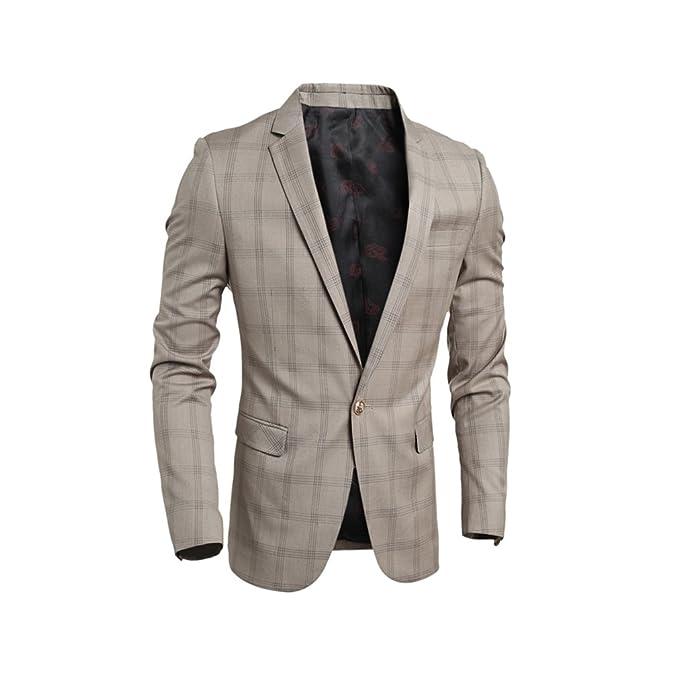 Amazon.com: KY Cosplay chaquetas de hombre Casual Business ...
